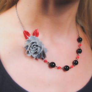 Jewelry - Romantic Rose Handmade Vintage Style Necklace